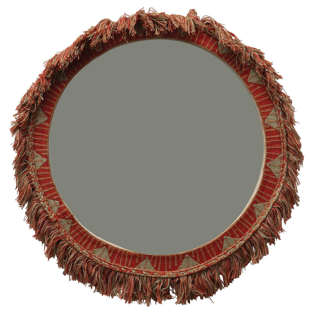 Embroidered Fringe Mirror - Effortless Composition