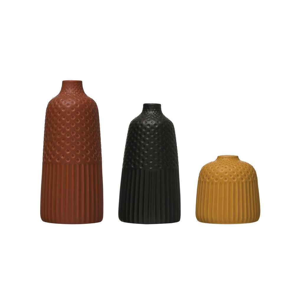Clay Pairings Vase (Set of 3) - Effortless Composition