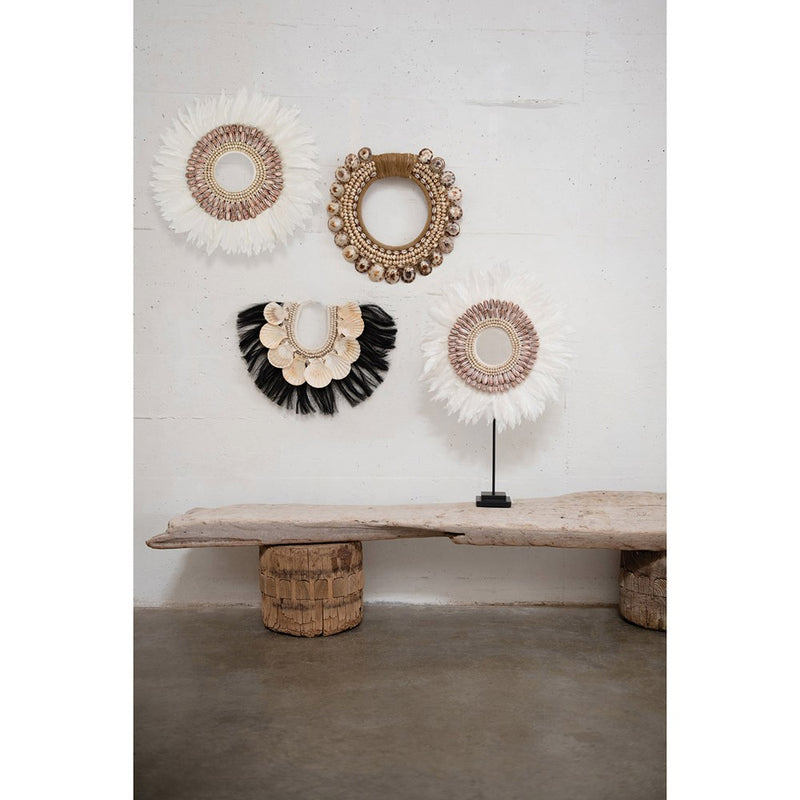 Feather and Shell Wall Décor - Effortless Composition