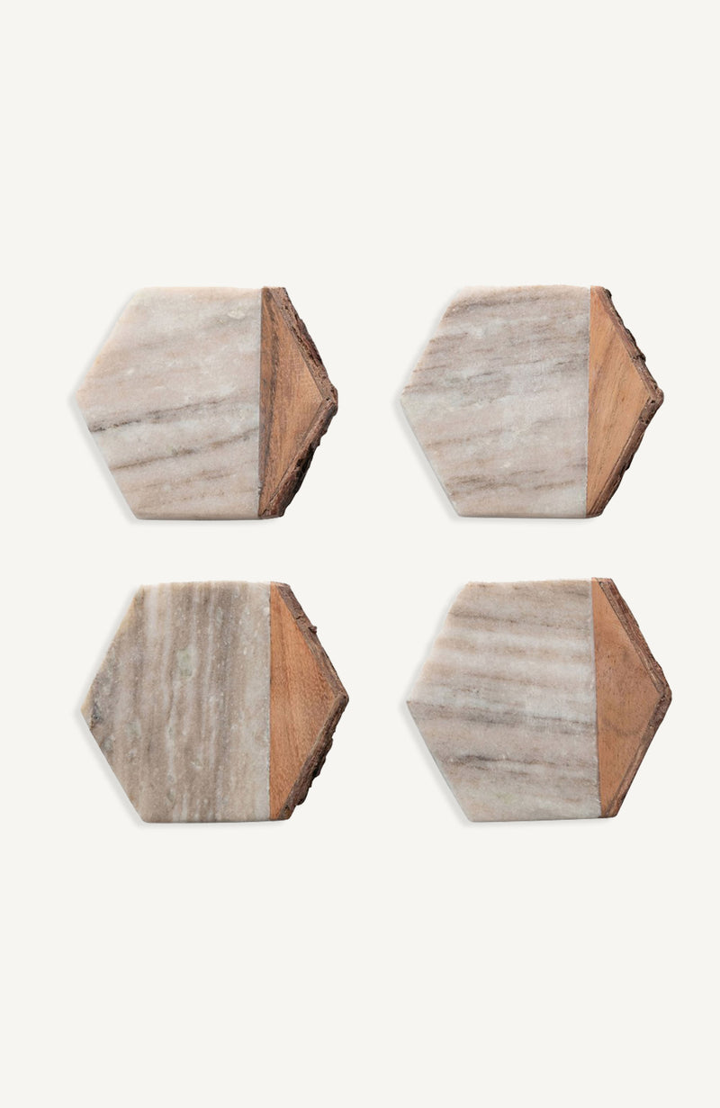 Mable and Wood Coasters