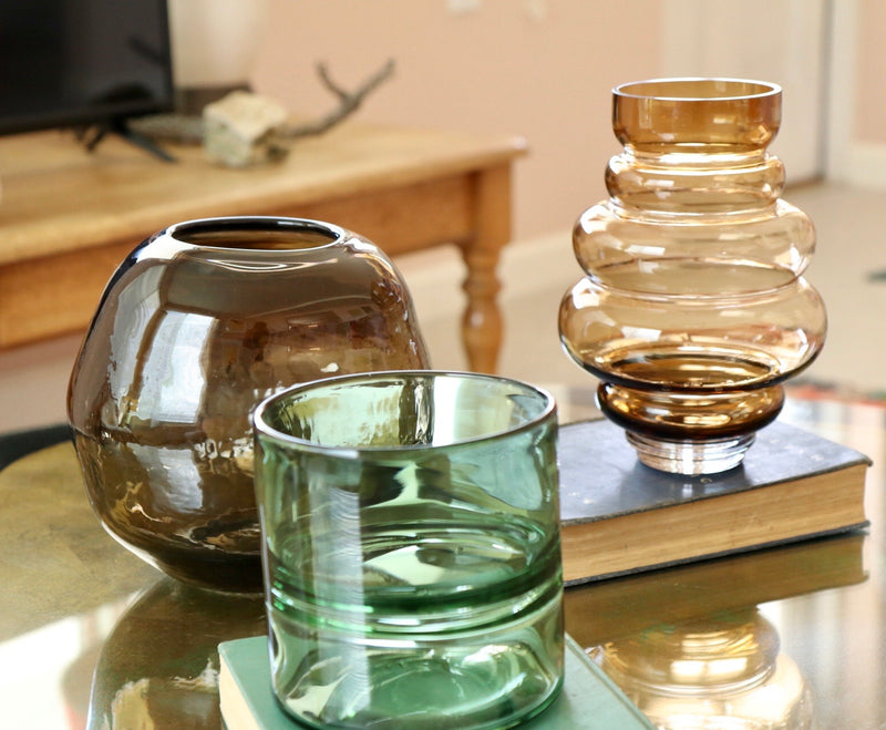 Brown Orb Glass Vase - Effortless Composition
