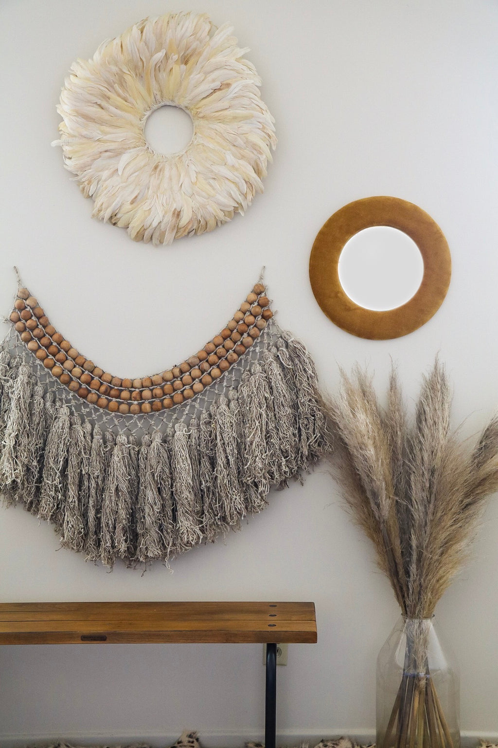 Feather Wall Decor - Effortless Composition