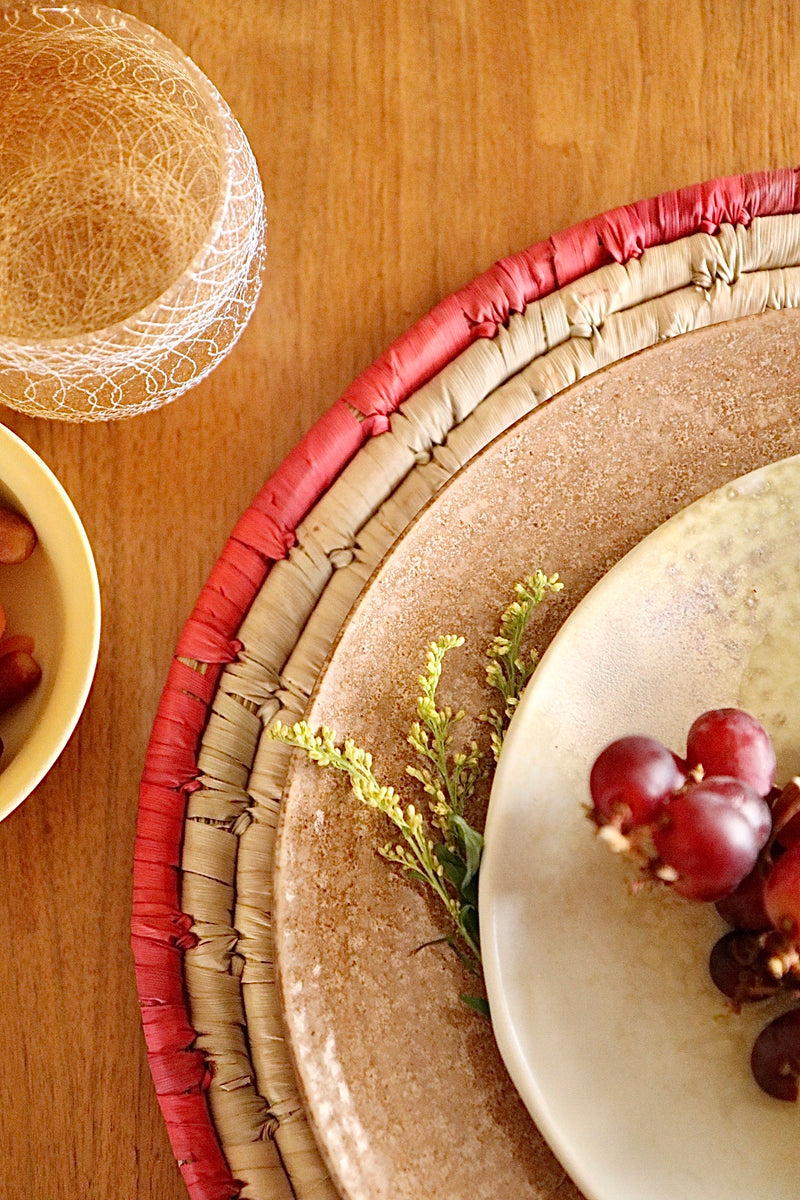Red Trimmed Placemat - Effortless Composition
