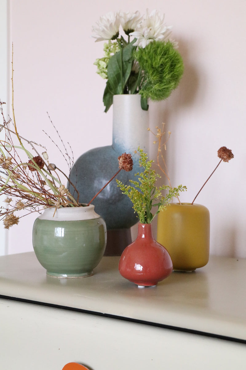 Two Tone Stonware Vase - Effortless Composition