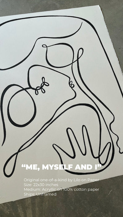 me myself and i lilo on paper original art artist los angeles shop local