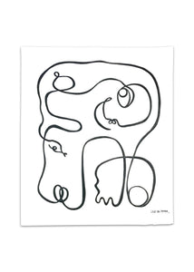 Lilo on Paper art serpent inspired by the bible danish artist adam and eve liloonpaper original artwall