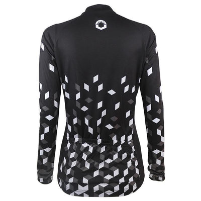 Black Retro Long Sleeve Jersey