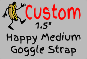 "1.5"" Happy Medium Custom Goggle Strap - HotDogFPV"