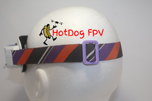 Orange and Purple Striped Goggle Strap v1 - HotDogFPV