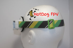Yellow and Green Striped Fatshark Goggle Strap v1 - HotDogFPV