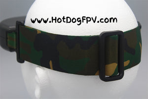 Woodland Camouflage Double Wide Goggle Strap v1 - HotDogFPV