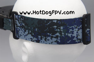 Navy Camouflage Double Wide Fatshark Goggle Strap v1 - HotDogFPV