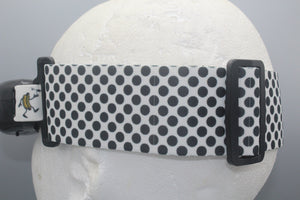 Black and White Polka Dot Fatshark Goggle Strap