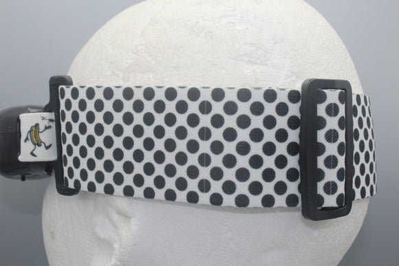 Black and White Polka Dot Fatshark Goggle Strap v2