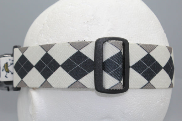 Black and White Argyle FPV Fatshark Goggle Strap