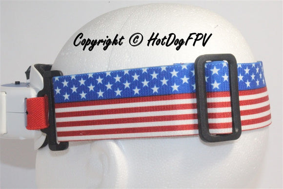 Stars and Stripes  Goggle Strap v1 - HotDogFPV
