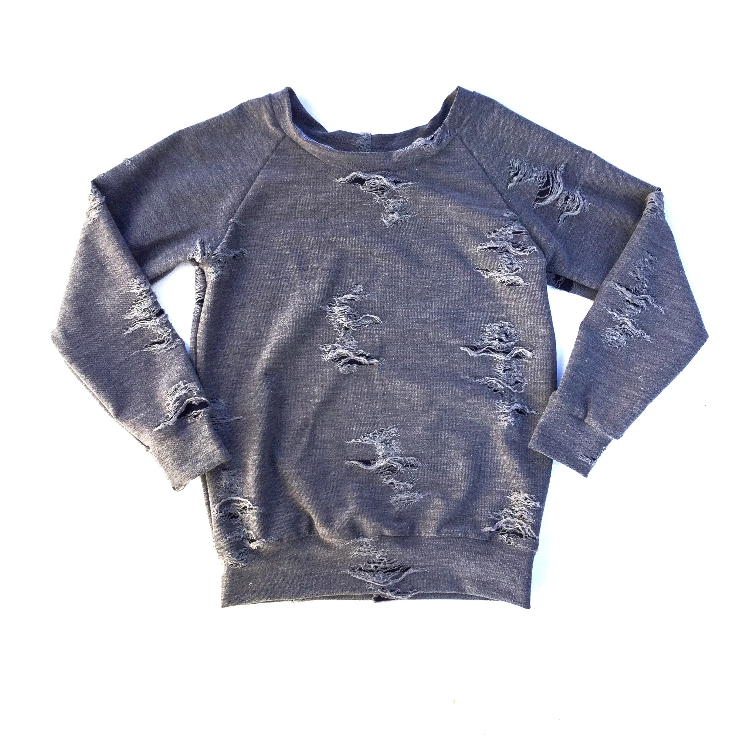 handmade toddler sweater trendy edgy distressed tops street wear for toddlers