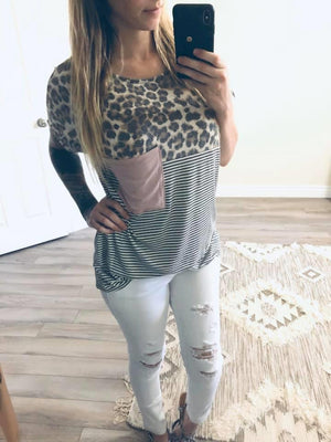 Cheetah Stripe Doleman Tee / Woman's