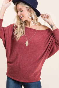 Wine OTS Woman's Sweater