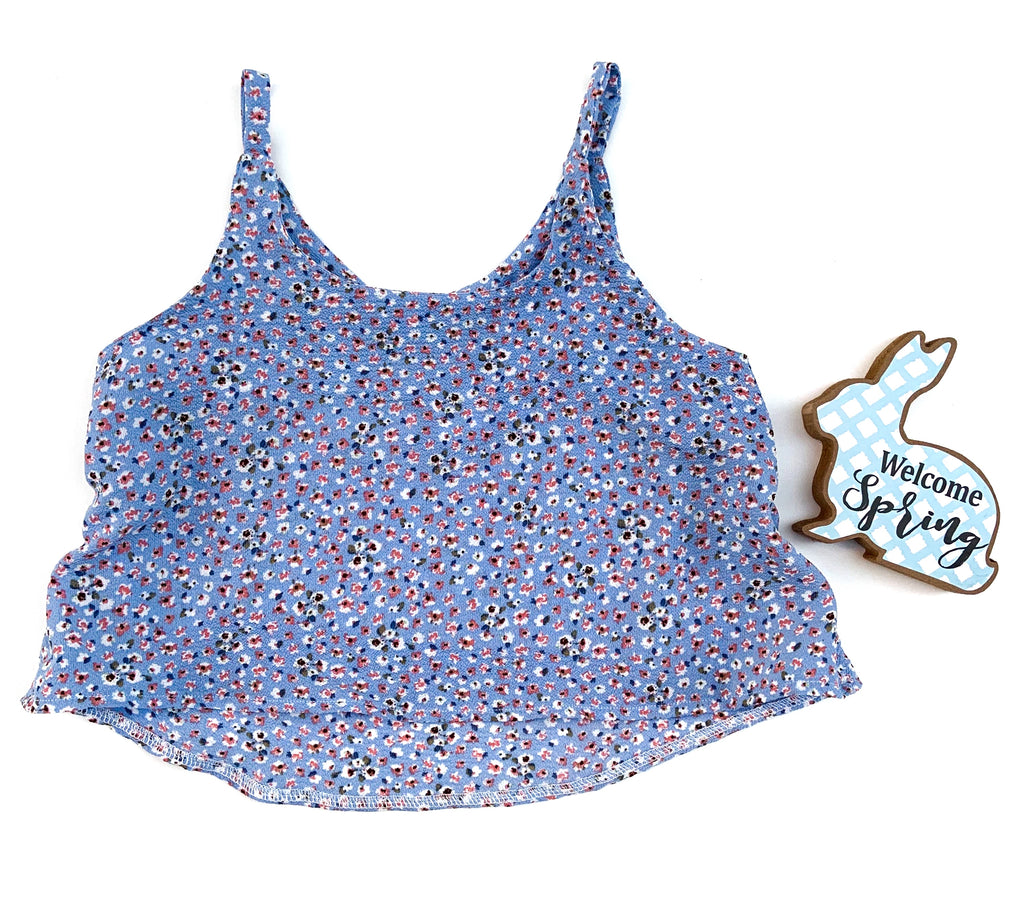 Blue Floral Swing Top - LittlePoshBabes