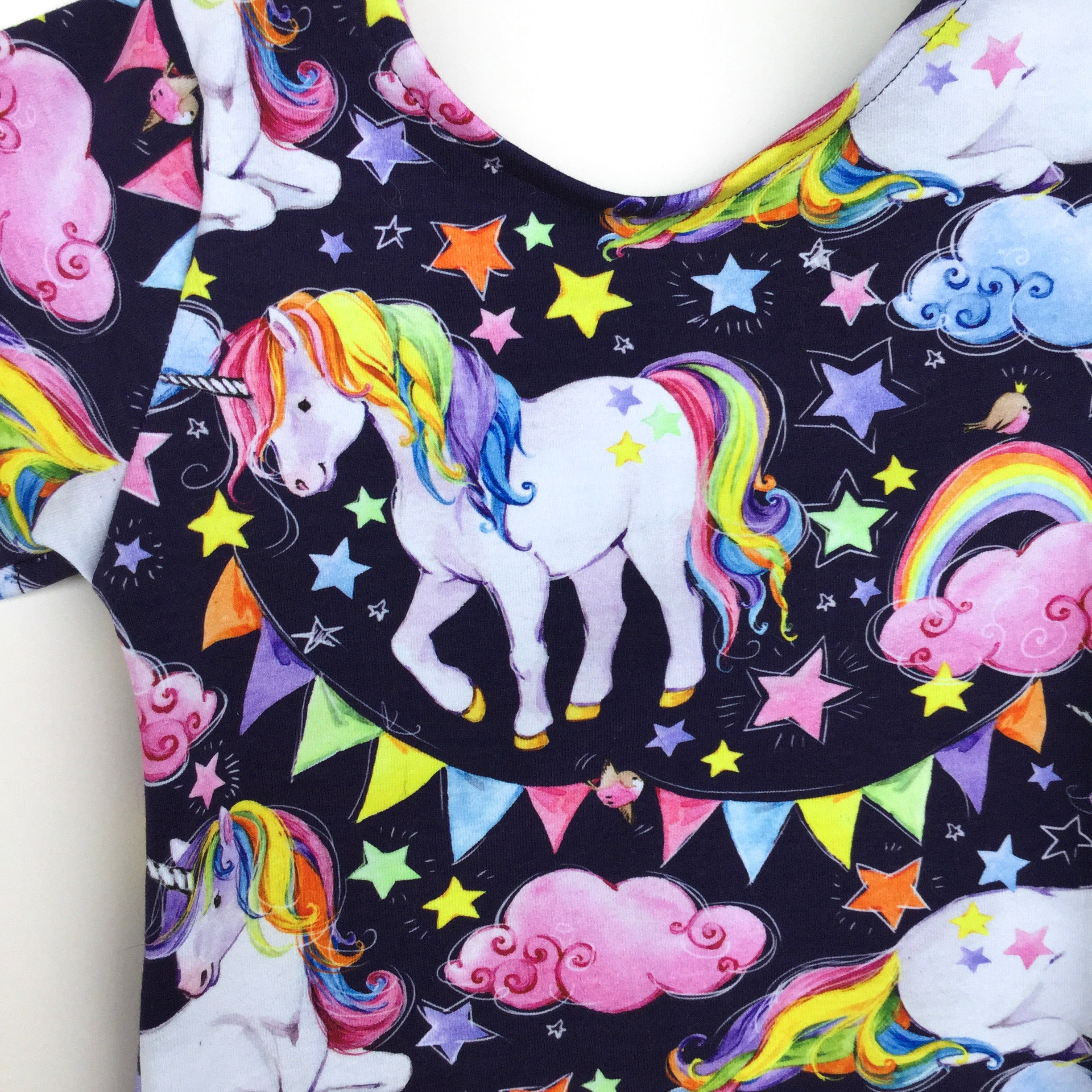 dancing rainbow unicorn happy style for toddlers leotard