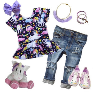 pretty unicorn outfit flatlay where to buy toddler clothes online