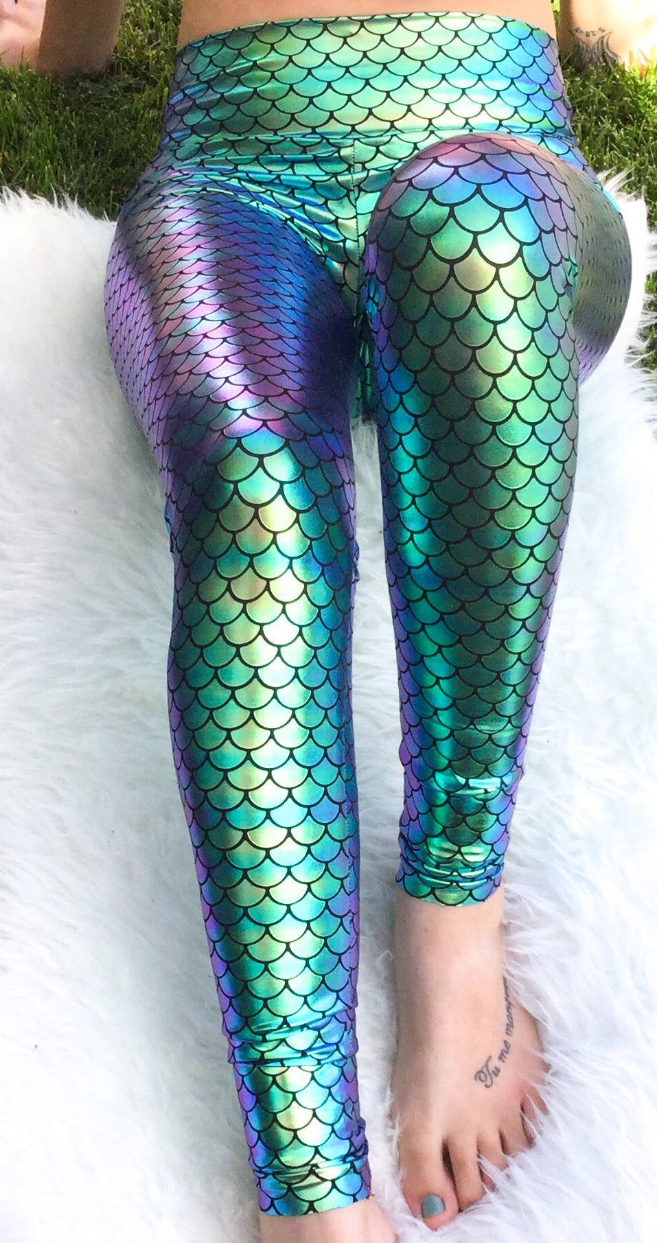 womens mermaid leggings yoga band comfort cute mommy outfit for disney