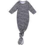 Black and white stripe newborn knot gown