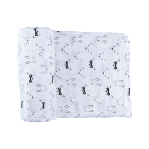 Monochrome animal swaddle blanket for babies best baby gifts online