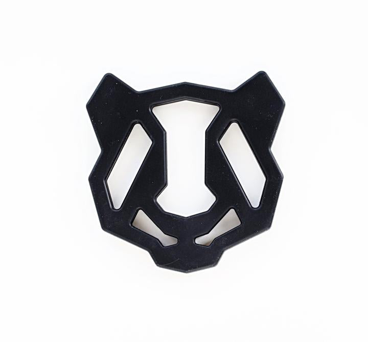 black panda silicone teether teething toy for babies where to buy boutique baby gifts