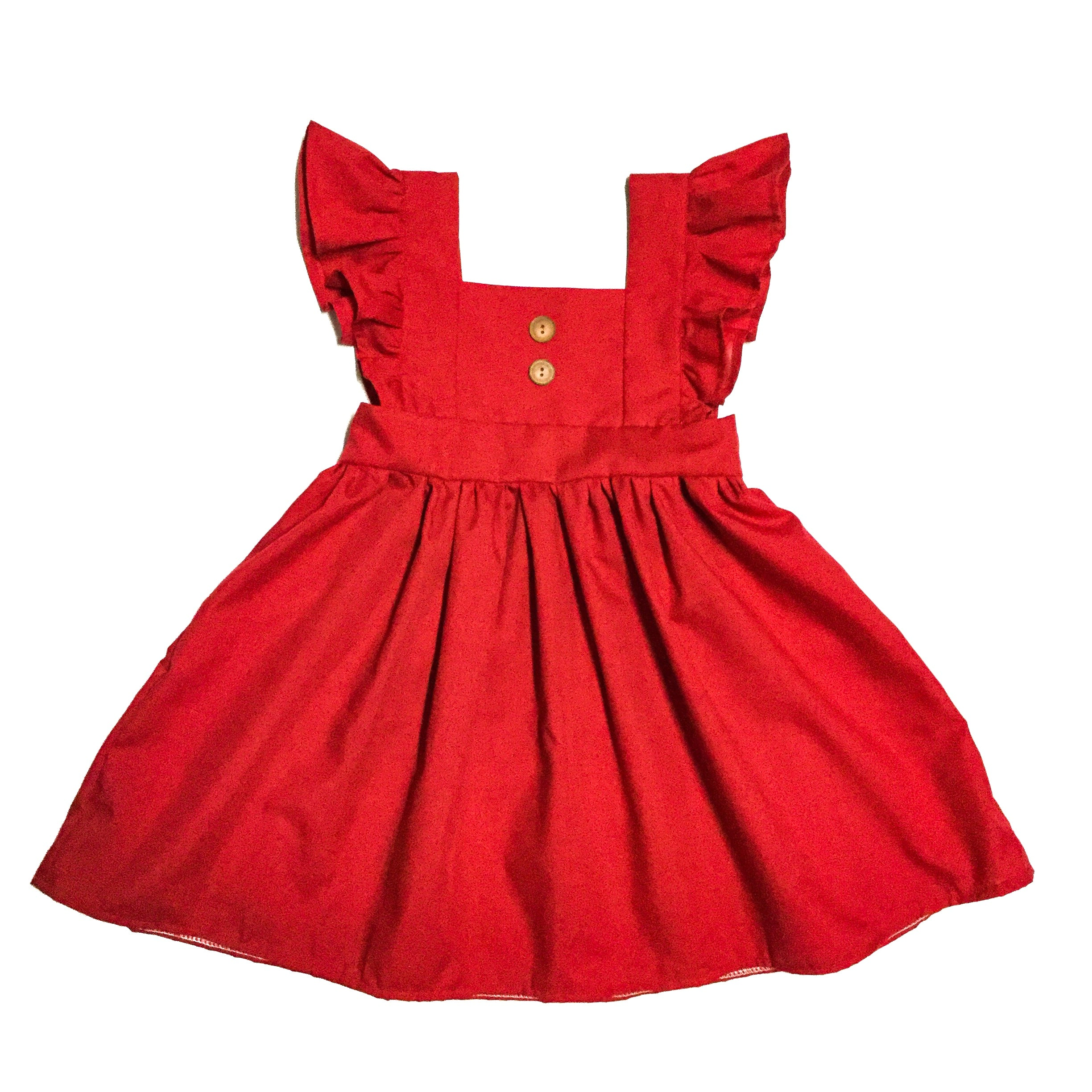 handmade vintage style dress with buttons for little girls
