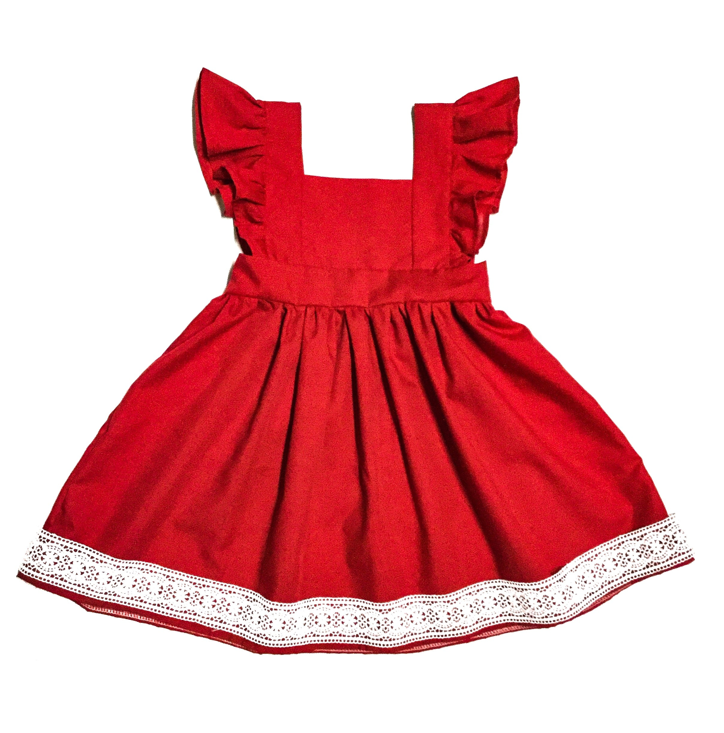 handmade vintage style dress with lace for little girls