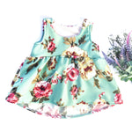 mint green floral bohemian toddler top from little posh babes