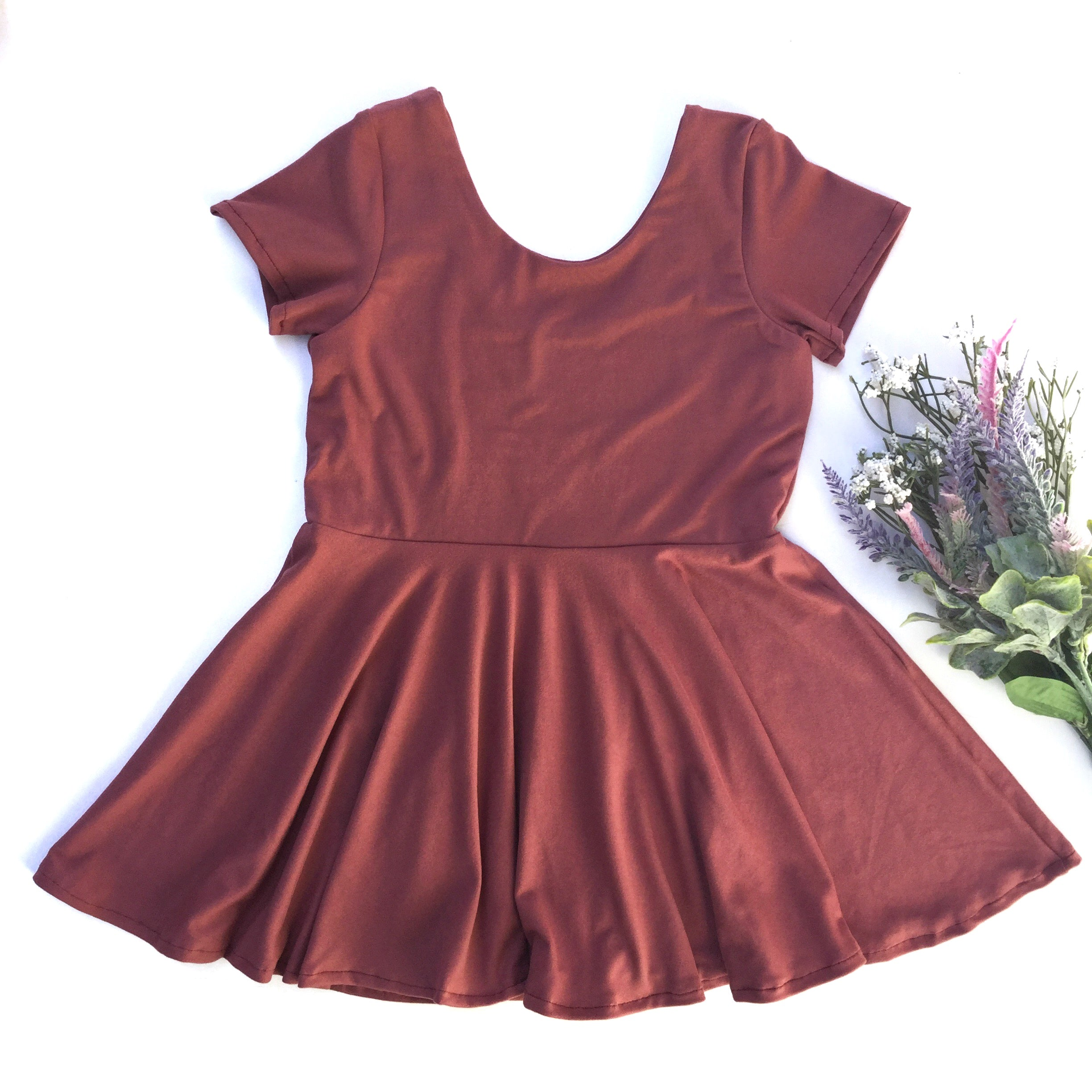 mauve twirl dress for toddler girls from little posh babes