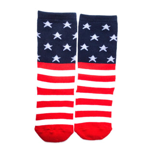 kids patriotic flag knee high socks
