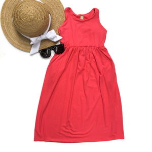 Toddler dark coral maxi dress