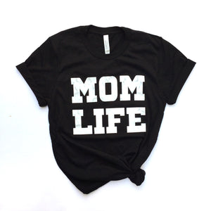 mom life marble tee black tees for moms cute womens outfit boutique