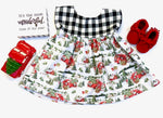 Holiday Dress RTS 3t - LittlePoshBabes