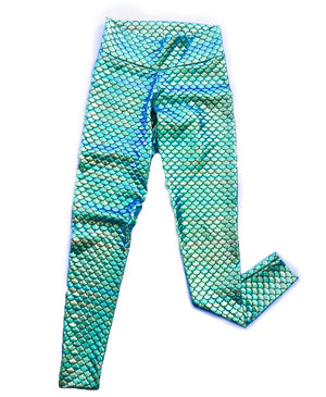 yoga waist womens mermaid leggings
