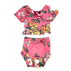 pink floral fashion outfit for toddlers online boutique little posh babes