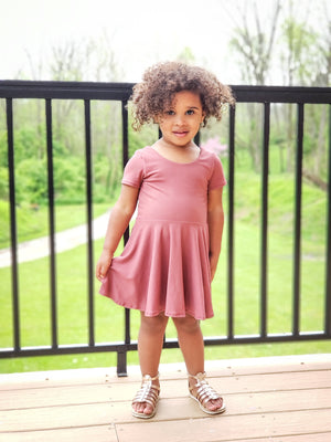 soft brush poly handmade toddler dress little posh babes