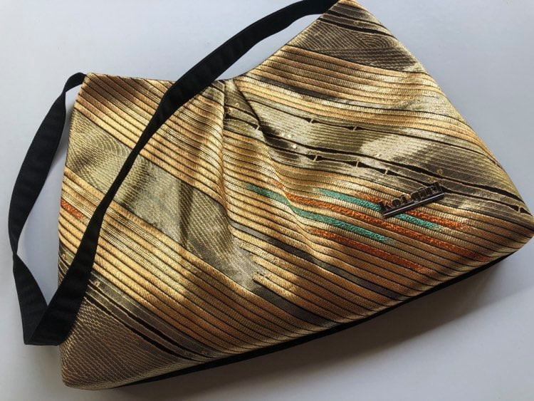 Gold and Black Bamboo Shoulder Bag