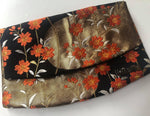 Black, Gold Waves and Orange Blossom Clutch