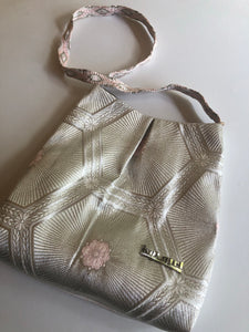 Silver Blossom and Hexagon Shoulder Bag
