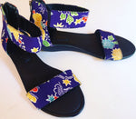 Indigo Floral Wedge Sandals size 40