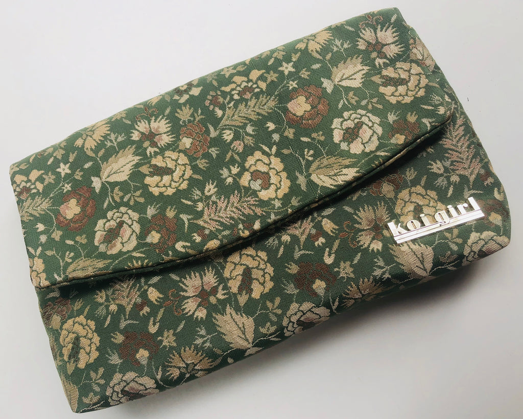 Sage Green Kiku Clutch
