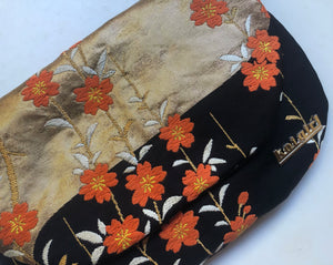 Black, Gold and Orange Blossom Clutch