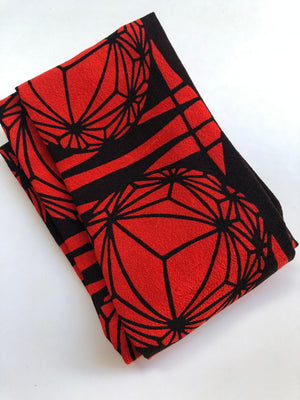 Black and Red Tama Headscarf