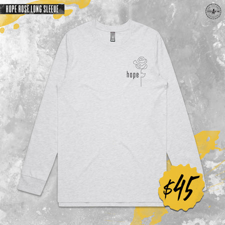 Hope Rose Long Sleeve Tee (White)