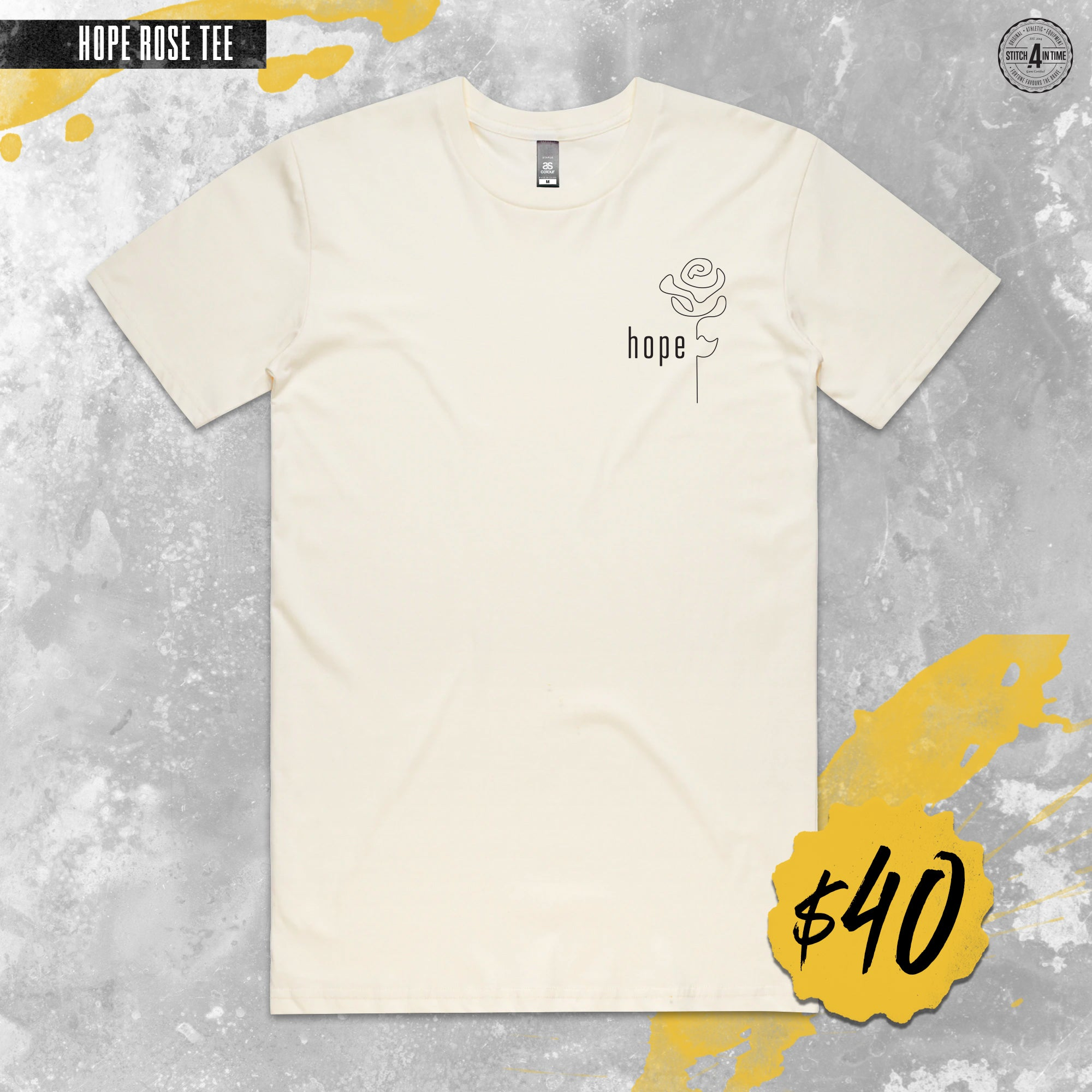 Hope Rose Staple Tee (Natural)